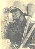 Немецкий солдат в каске М 42